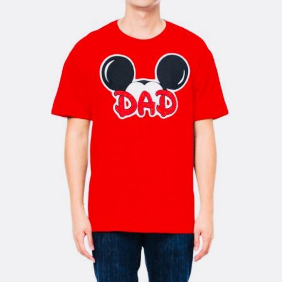 07ed5676 Disney Shirts | Mens Mickey Mouse Dad Graphic Tshirt Red | Poshmark